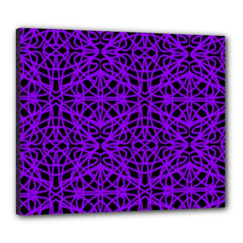 Black And Purple String Art Canvas 24  X 20  (stretched)