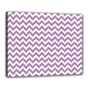 Lilac And White Zigzag Canvas 20  x 16  (Framed) View1