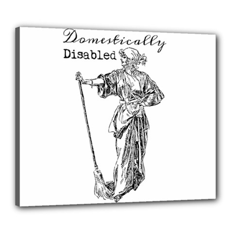 Domestically Disabled Canvas 24  x 20  (Framed)