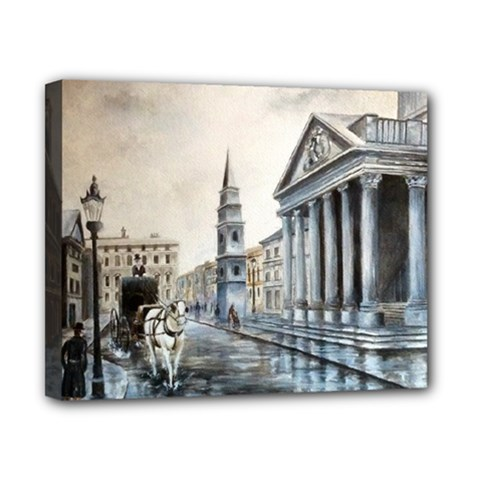 Old London Town Canvas 10  x 8  (Framed)