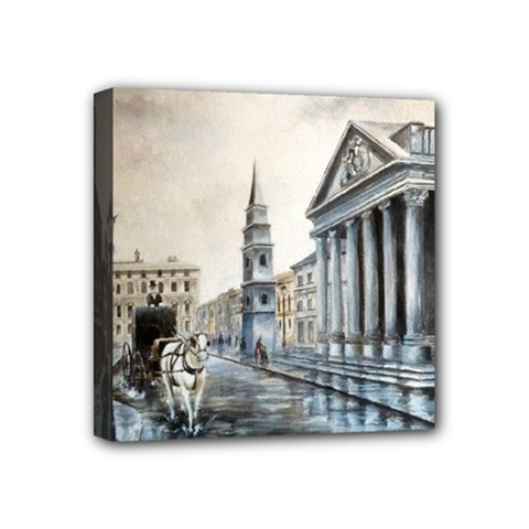 Old London Town Mini Canvas 4  x 4  (Framed)