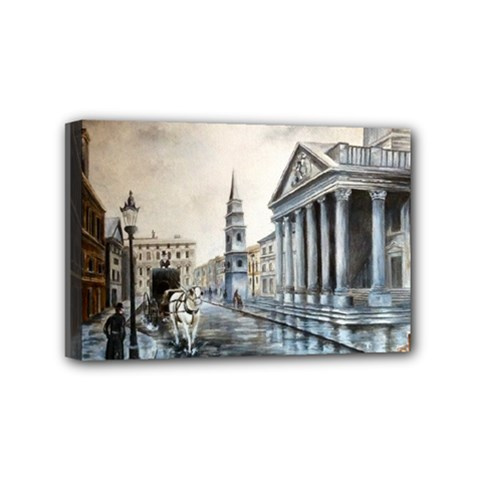 Old London Town Mini Canvas 6  X 4  (framed)