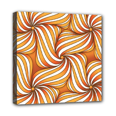 Sunny Organic Pinwheel Mini Canvas 8  x 8  (Framed)