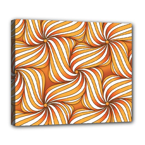 Sunny Organic Pinwheel Deluxe Canvas 24  X 20  (framed)
