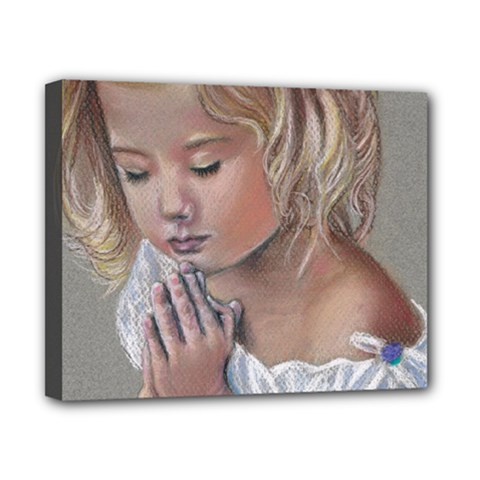 Prayinggirl Canvas 10  X 8  (framed)