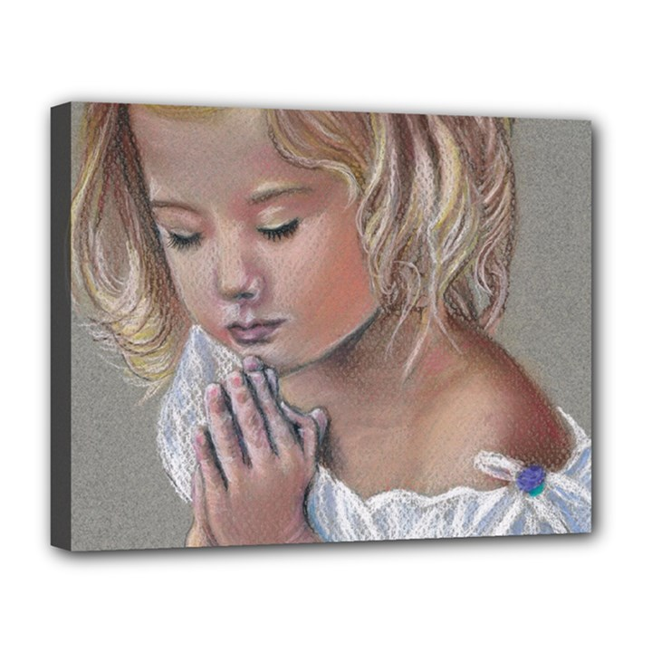Prayinggirl Canvas 14  x 11  (Framed)