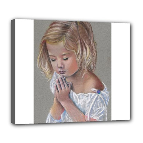 Prayinggirl Deluxe Canvas 24  x 20  (Framed)