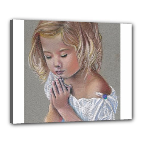 Prayinggirl Canvas 20  x 16  (Framed)