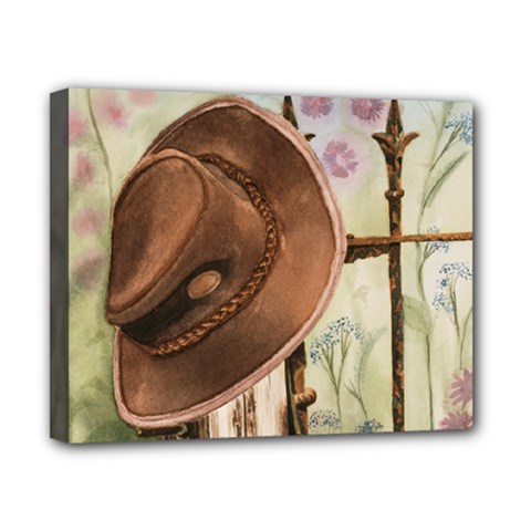 Hat On The Fence Canvas 10  X 8  (framed)