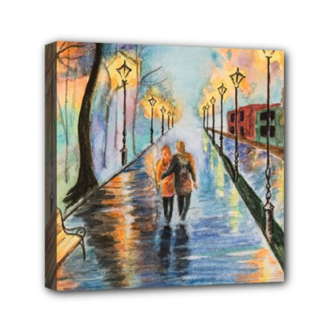Just The Two Of Us Mini Canvas 6  x 6  (Framed)