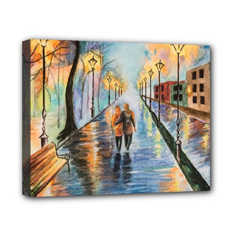 Just The Two Of Us Canvas 10  x 8  (Framed)