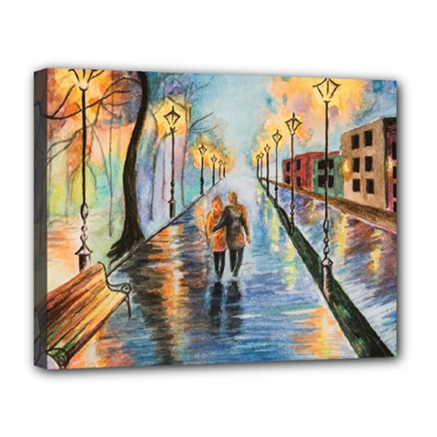 Just The Two Of Us Canvas 14  x 11  (Framed)