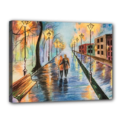Just The Two Of Us Canvas 16  x 12  (Framed)