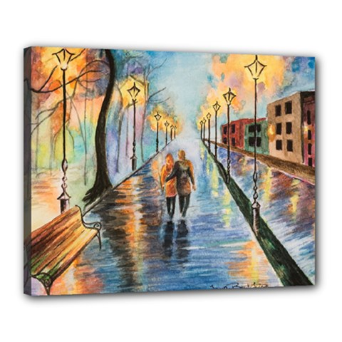 Just The Two Of Us Canvas 20  x 16  (Framed)