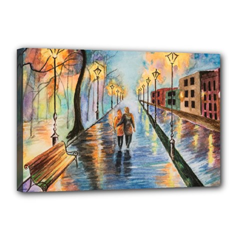 Just The Two Of Us Canvas 18  x 12  (Framed)