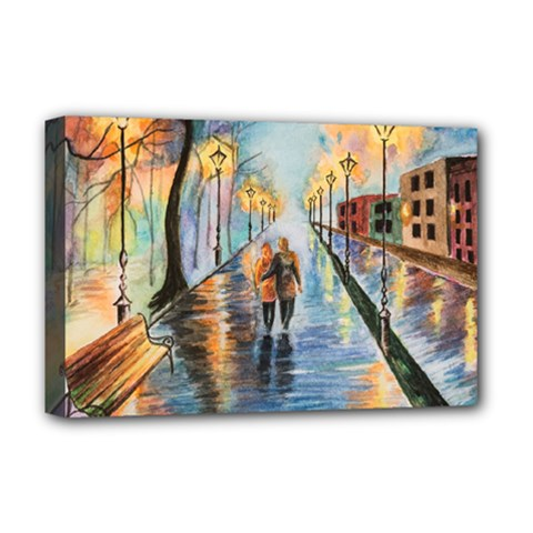 Just The Two Of Us Deluxe Canvas 18  X 12  (framed)