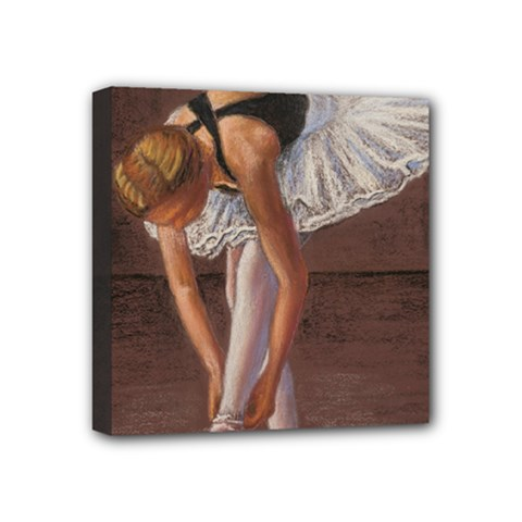 Ballerina Mini Canvas 4  x 4  (Framed)