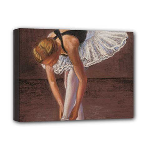 Ballerina Deluxe Canvas 16  x 12  (Framed)