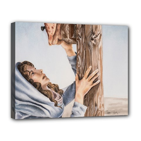 Stabat Mater Canvas 14  X 11  (framed)