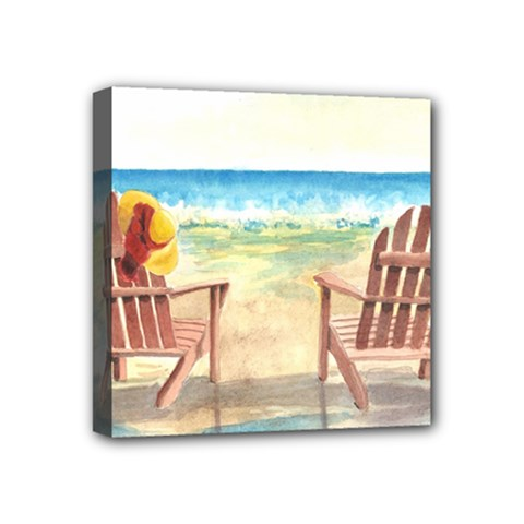 Time To Relax Mini Canvas 4  x 4  (Framed)