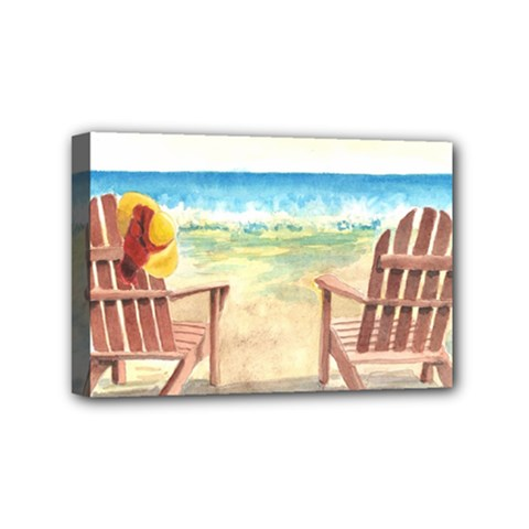 Time To Relax Mini Canvas 6  x 4  (Framed)