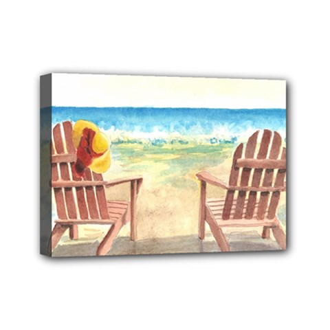 Time To Relax Mini Canvas 7  x 5  (Framed)