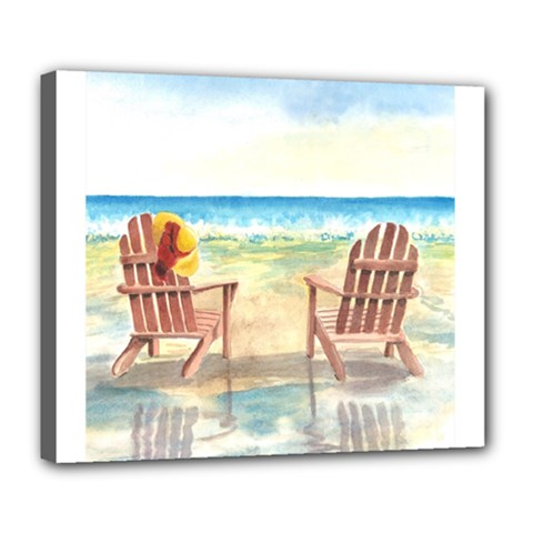 Time To Relax Deluxe Canvas 24  x 20  (Framed)