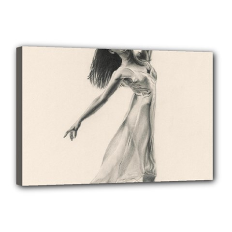 Perfect Grace Canvas 18  x 12  (Framed)