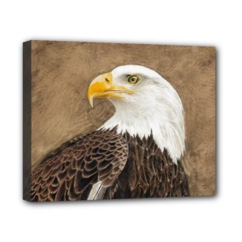 Eagle Canvas 10  X 8  (framed)