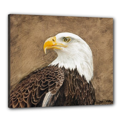 Eagle Canvas 24  X 20  (framed)