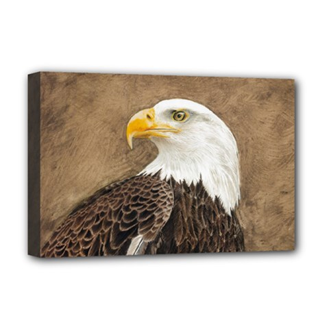 Eagle Deluxe Canvas 18  x 12  (Framed)