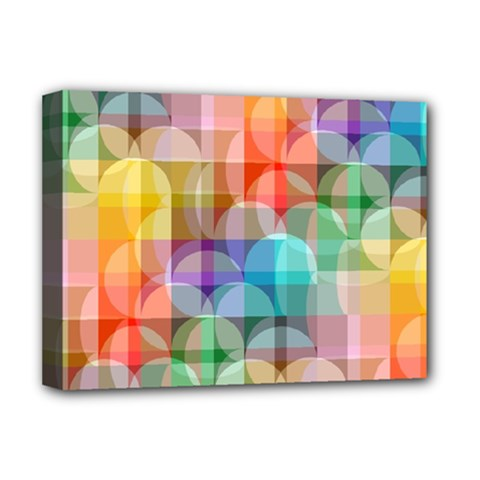 circles Deluxe Canvas 16  x 12  (Framed)
