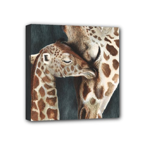 A Mother s Love Mini Canvas 4  x 4  (Framed)
