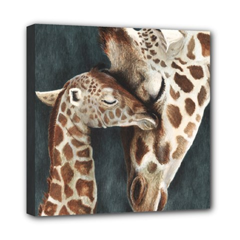 A Mother s Love Mini Canvas 8  x 8  (Framed)