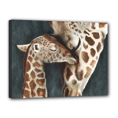 A Mother s Love Canvas 16  x 12  (Framed)