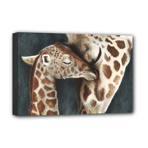 A Mother s Love Deluxe Canvas 18  x 12  (Framed)