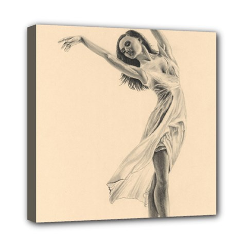 Graceful Dancer Mini Canvas 8  x 8  (Framed)