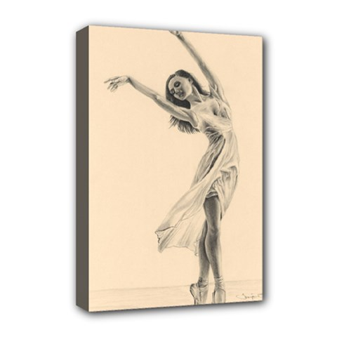 Graceful Dancer Deluxe Canvas 18  x 12  (Framed)