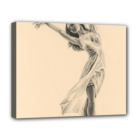 Graceful Dancer Deluxe Canvas 20  x 16  (Framed)