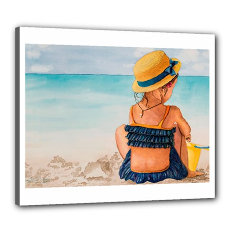 A Day At The Beach Canvas 24  X 20  (framed)