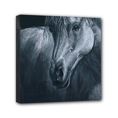Equine Grace  Mini Canvas 6  x 6  (Framed)