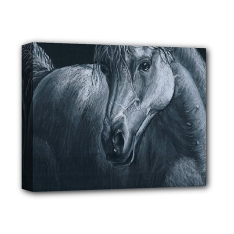 Equine Grace  Deluxe Canvas 14  x 11  (Framed)
