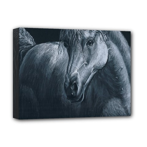 Equine Grace  Deluxe Canvas 16  X 12  (framed)