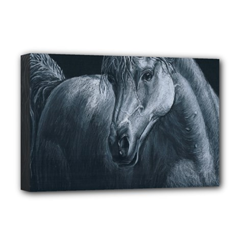 Equine Grace  Deluxe Canvas 18  x 12  (Framed)