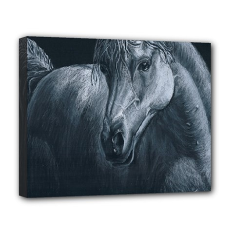Equine Grace  Deluxe Canvas 20  x 16  (Framed)