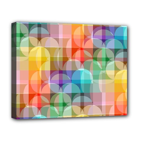 circles Deluxe Canvas 20  x 16  (Framed)