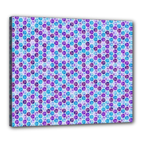 Purple Blue Cubes Canvas 24  x 20  (Framed)