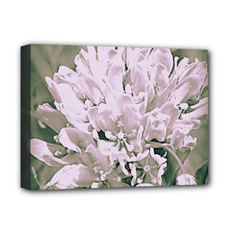White Flower Deluxe Canvas 16  x 12  (Framed)