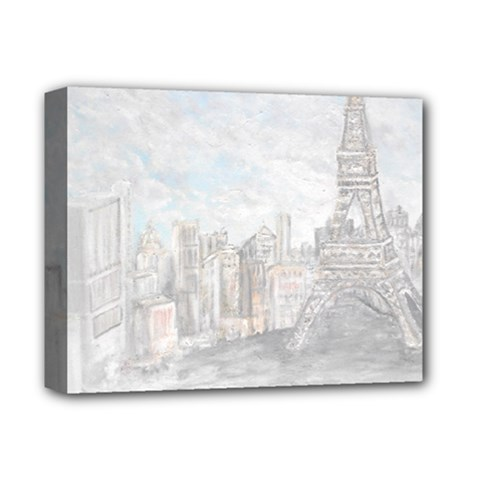Eiffel Tower Paris Deluxe Canvas 14  X 11  (framed)