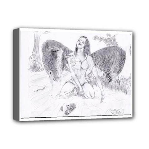 Bleeding Angel 1  Deluxe Canvas 16  x 12  (Framed)
